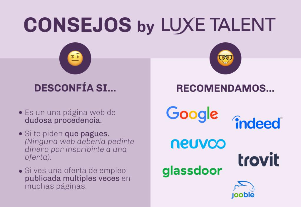 Infografía TIPS para buscar empleo con Agregadores